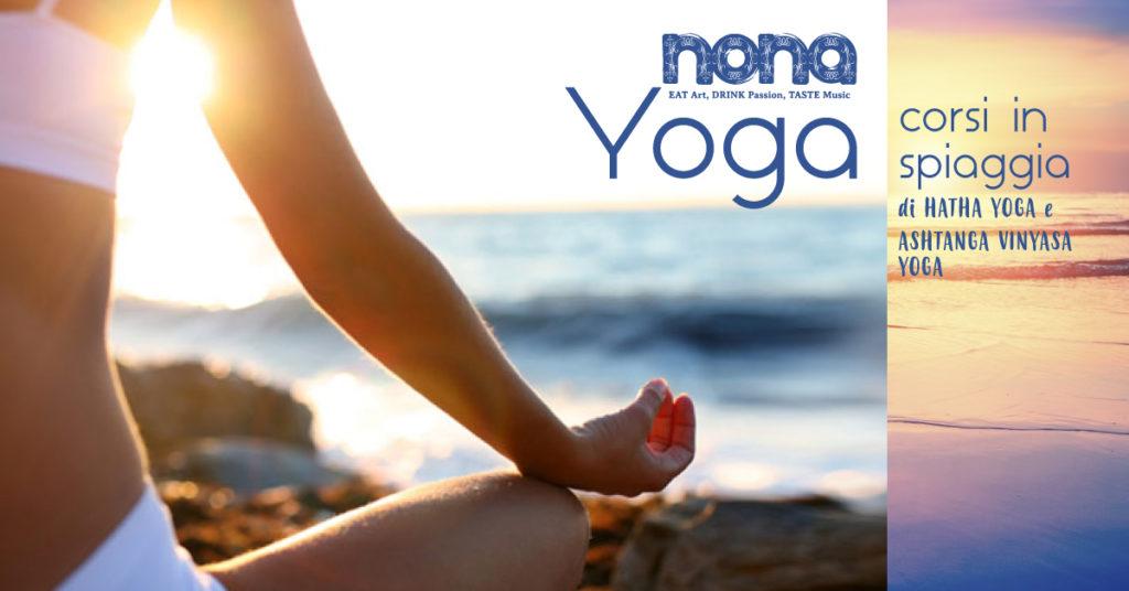 Lezioni di yoga in Spiaggia al Nona 35 Beach